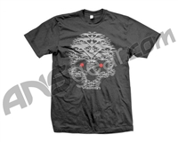 Valken Paintball Skull V T-Shirt - Grey