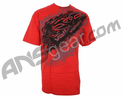 Valken Paintball Smoked T-Shirt - Red