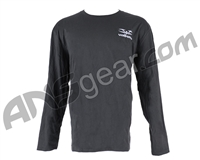 Valken Stitched Logo Long Sleeve T-Shirt - Grey
