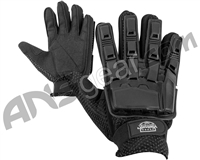 Valken V-Tac Full Finger Plastic Back Paintball Gloves - Black