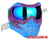 V-Force Grill Paintball Mask - SE Purple/Blue w/ Imperial HDR Lens