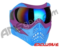 V-Force Grill Paintball Mask - SE Purple/Blue w/ Mirror Blue Lens
