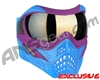 V-Force Grill Paintball Mask - SE Purple/Blue w/ Mirror Gold Lens