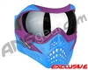 V-Force Grill Paintball Mask - SE Purple/Blue w/ Mirror Silver Lens