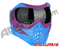 V-Force Grill Paintball Mask - SE Purple/Blue w/ Ninja Black Lens