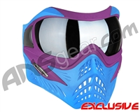 V-Force Grill Paintball Mask - SE Purple/Blue w/ Quicksilver HDR Lens