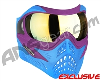 V-Force Grill Paintball Mask - SE Purple/Blue w/ Titan HDR Lens