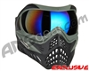 V-Force Grill Paintball Mask - Forest Green w/ Mirror Blue Lens