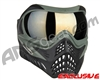 V-Force Grill Paintball Mask - Forest Green w/ Mirror Gold Lens