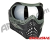 V-Force Grill Paintball Mask - Forest Green w/ Mirror Silver Lens