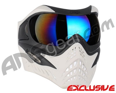 V-Force Grill Paintball Mask - Ghost w/ Mirror Blue Lens