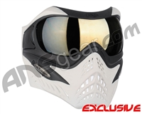 V-Force Grill Paintball Mask - Ghost w/ Mirror Gold Lens