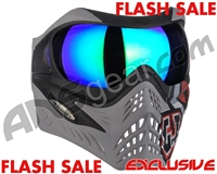 V-Force Grill Paintball Mask - SE GI Logo Charcoal w/ Kryptonite HDR Lens