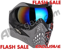 V-Force Grill Paintball Mask - SE GI Logo Charcoal w/ Mirror Blue Lens