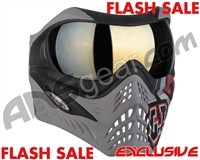 V-Force Grill Paintball Mask - SE GI Logo Charcoal w/ Mirror Gold Lens