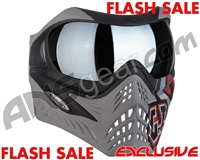 V-Force Grill Paintball Mask - SE GI Logo Charcoal w/ Quicksilver HDR Lens