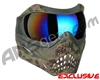 Planet Eclipse V-Force Grill Paintball Mask - HDE w/ Mirror Blue Lens
