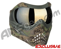 Planet Eclipse V-Force Grill Paintball Mask - HDE w/ Mirror Gold Lens