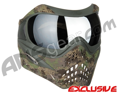Planet Eclipse V-Force Grill Paintball Mask - HDE w/ Mirror Silver Lens