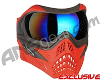 V-Force Grill Paintball Mask - Scarlet w/ Mirror Blue Lens
