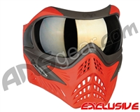 V-Force Grill Paintball Mask - Scarlet w/ Mirror Gold Lens