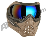 V-Force Grill Paintball Mask - SE Hextreme Sand w/ Mirror Blue Lens