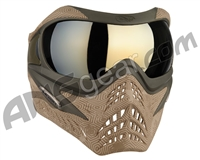 V-Force Grill Paintball Mask - SE Hextreme Sand w/ Mirror Gold Lens