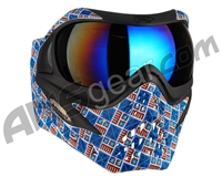 V-Force Grill Paintball Mask - SE Inca w/ Mirror Blue Lens