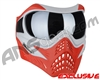 V-Force Grill Paintball Mask - SE Silver/Red
