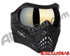 V-Force Grill Paintball Mask - Shadow w/ Mirror Gold Lens
