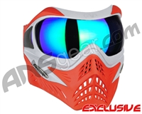 V-Force Grill Paintball Mask - SE Silver/Red w/ Kryptonite HDR Lens