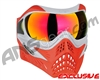 V-Force Grill Paintball Mask - SE Silver/Red w/ Magneto HDR Lens