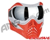 V-Force Grill Paintball Mask - SE Silver/Red w/ Mercury HDR Lens