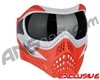 V-Force Grill Paintball Mask - SE Silver/Red w/ Ninja Black Lens