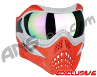V-Force Grill Paintball Mask - SE Silver/Red w/ Phantom HDR Lens