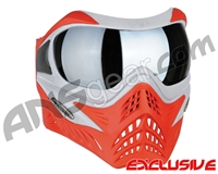 V-Force Grill Paintball Mask - SE Silver/Red w/ Quicksilver HDR Lens