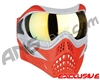 V-Force Grill Paintball Mask - SE Silver/Red w/ Titan HDR Lens