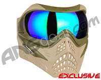 V-Force Grill Paintball Mask - Desert Tan (Swamp) w/ Kryptonite HDR Lens