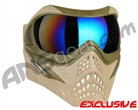 V-Force Grill Paintball Mask - Desert Tan (Swamp) w/ Mirror Blue Lens
