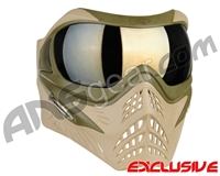 V-Force Grill Paintball Mask - Desert Tan (Swamp) w/ Mirror Gold Lens