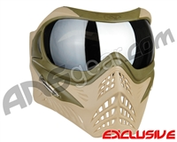V-Force Grill Paintball Mask - Desert Tan (Swamp) w/ Mirror Silver Lens