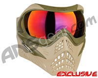 V-Force Grill Paintball Mask - Desert Tan (Swamp) w/ Metamorph HDR Lens