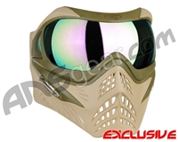 V-Force Grill Paintball Mask - Desert Tan (Swamp) w/ Phantom HDR Lens