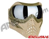 V-Force Grill Paintball Mask - Desert Tan (Swamp) w/ Quicksilver HDR Lens