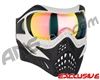 V-Force Grill Paintball Mask - White/Black w/ Crystal HDR Lens