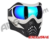 V-Force Grill Paintball Mask - White/Black w/ Imperial HDR Lens