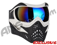 V-Force Grill Paintball Mask - White/Black w/ Mirror Blue Lens