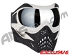 V-Force Grill Paintball Mask - White/Black w/ Mirror Silver Lens