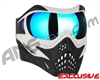 V-Force Grill Paintball Mask - White/Black w/ Pulsar HDR Lens