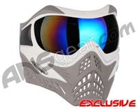 V-Force Grill Paintball Mask - SE White/Taupe w/ Mirror Blue Lens